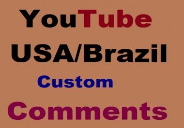 Guaranteed  Custom Comments Super Fast Non Drop