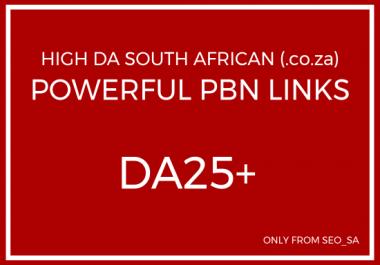 Manually Create 5 x Unique Domain High DA/PA South African PBN Backlinks