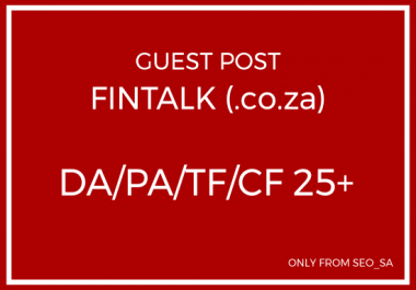 Manually Create Guest Post on FinTalk (.co.za)