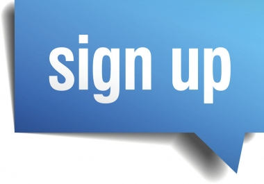 Get Manually 50 Real People website signups with email confirmation