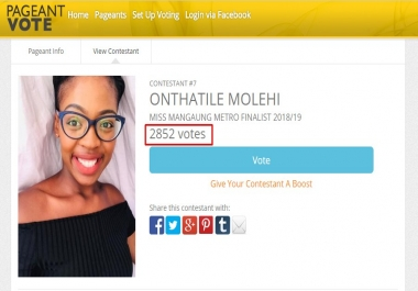 Provide You 150 Pageant Contest Votes Super Fast