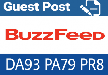 Write & publish guest post on Buzzfeed.com with dofollow backlink