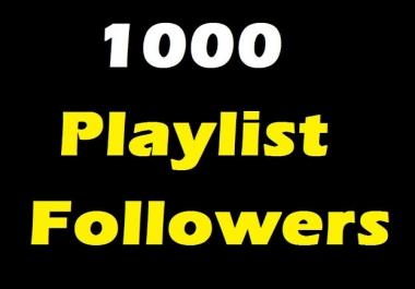 HQ 1000 playlist Artist Non drop followers