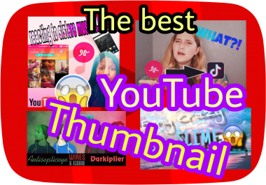 Create For You An Amazing Eye Catching Thumbnail