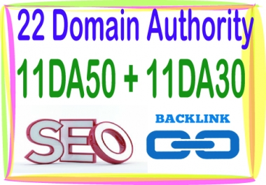 Do 22 DA (Domain Authority) 11 DA50 - 11 DA30-High Quality PR9 backlinks