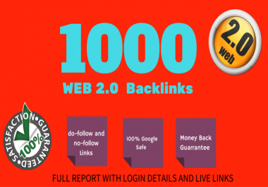 Provide 1000 High quality web2 backlinks