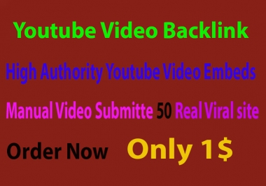 CPA Marketing Youtube Video Backlink 50 Real Site Submit Embed