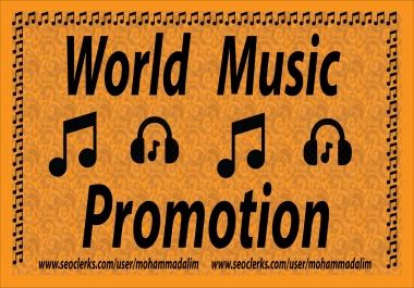 1M or 10,00,000 Real World Music Promotion