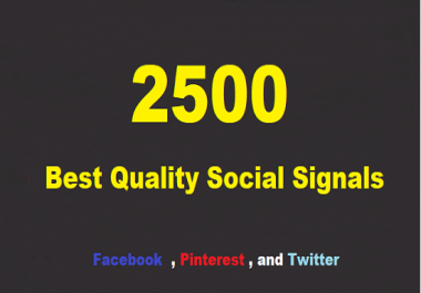 powerful package manually create 2500 SEO top social signals