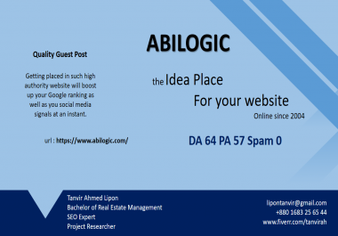 write and guest post on abilogic.com with dofollow