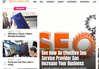 Guest Post On DA30+ Tech, Business Niche Site Techmelife.com