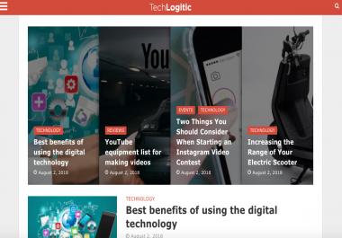 Place a guest post on Techlogitic Techlogitic.net DA46