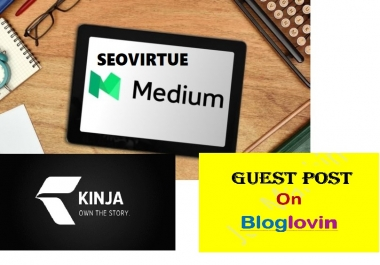 Guest Post On High PR High-Authority Sites Medium.com, Kinja.com Or Bloglovin.com
