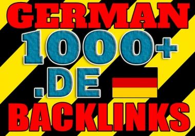 Get over 1000 German .DE backlinks