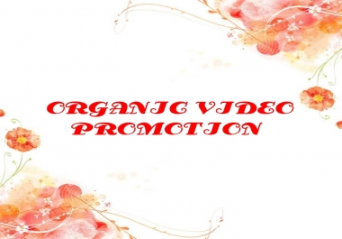 Give you Organic video banner  promotion instant delivery