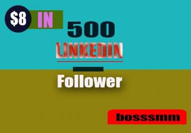 Manually 500+ HQ & None Drop Linkedin Followers