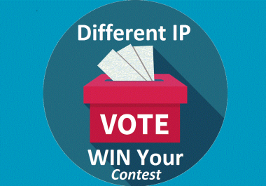 Get you 1000 genuine IP votes poll by any contest that you are participating