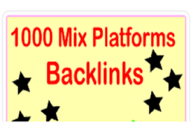 Mix platforms 1000 backlinks!!! SEO!!