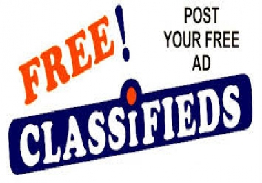 Classified Ad Posting 1000 Cities Worldwide 2 day service!