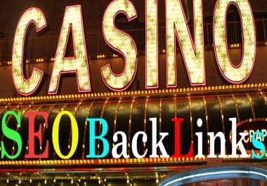 400 Manual With 200K Tire-2 Backlinks For CASINO/GAMBLING/POKER Evaluate Google 1st Rank