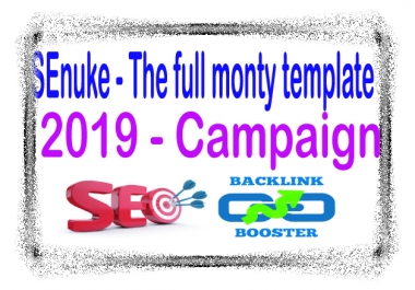 Youtube Campaign SEnuke - The full monty template 2019