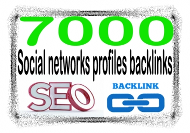 Create 7000 Social networks profiles - Highly Authorized Google Dominating Backlinks