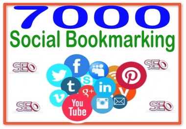 Provide 7000 Social Bookmarking  High PR Metrics Backlinks