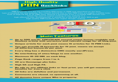 Create 15 high quality PBN Contextual backlinks