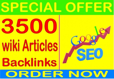 Best  SEO Sell-2019- I will do 3500 Wiki articles PR9 Safe SEO High Pr Backlinks 2019 Best Results