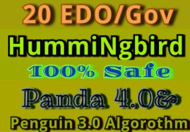Manually Do 20 EDU/GOB Safe SEO High Pr Backlinks