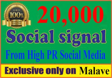 Boost Your Website With 20,000+ POWERFUL Social Signals From Only HIGH PR Backlink Websites