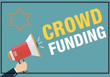 Marketing Promotion For Kickstarter, Crowdfunding, Indiegogo, GoFundMe, Fundraiser or Charity