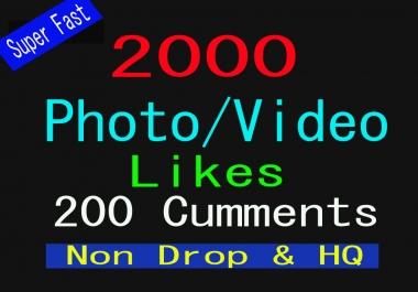 2000+ Super Fast, HQ, Non Drop Social Media Post or Photo Promotion