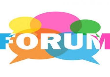 I Offer unique High Quality 25 forum posting