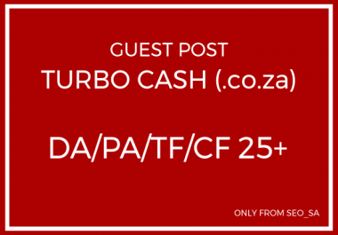 Manually Create Guest Post on Turbo Cash (.co.za)