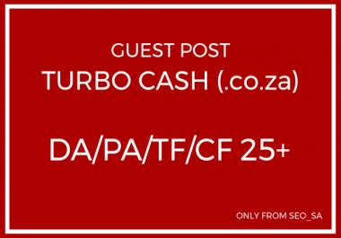 Manually Create Guest Post on Turbo Cash (.co.za)
