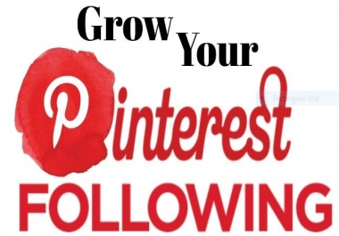 150+ HQ & Active Pinterest Profile/Board Followers or 150+ Pin Likes or Others Social Media Followers Service