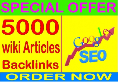 SEO Cmpaigns 2019- Rank On Google with 5000 Wiki articles contextual  Backlinks