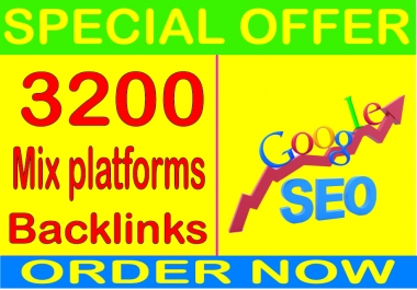 Best  SEO Package -2019- I will  3200 Mix platforms Of High Quality backlinks for your URL and keywords