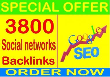 Top SEO Service-2019- I will do 3800 Social networks profiles PR9 Safe SEO High Pr Backlinks