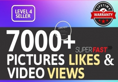 Super Instant 7000+ High Quality Social Pictures Promotion