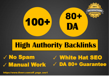 Create 100 High Da Authority Backlinks