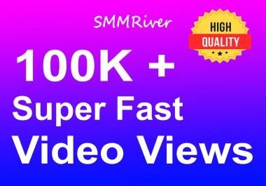 Instant 100K+ Social Video Views High Quality & Non Drop Guaranteed