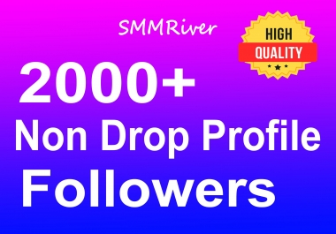 Add 2000+ Profile Followers Real High Quality and Non Drop