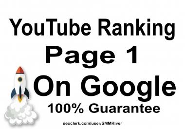 Rank Your YouTube Video on Google - 30 Days SEO Backlinks Manually