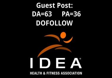 Guest post on Ideafit.com – Fitness Website - Dofollow link