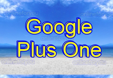 300 GOOGLE PLUS ONE TO BOOST WEBSITE SEO RANK