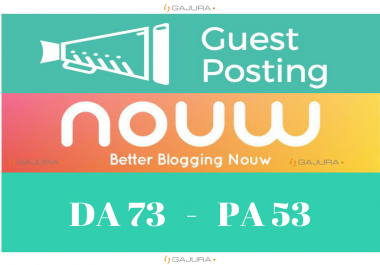 Write and guest post nouw.com DA 60