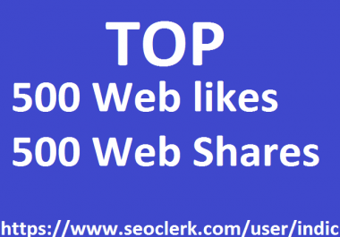 1,000 Social Signals White Hat SEO Backlinks Rank on TOP 1 Social Media