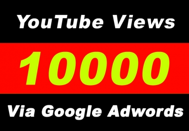 Youtube Video Promotion Via Google Adwords for 10K Plus Targeted Audience